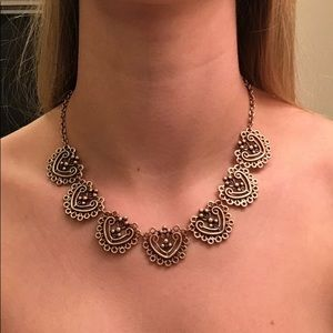 Jewelry - Gold/brass statement necklace (adjustable)